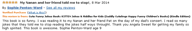 Kitten Jokes & Riddles book reader review