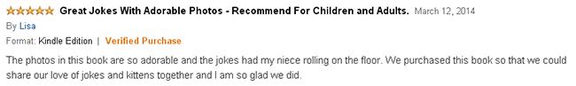 Kitten Jokes for kids book review